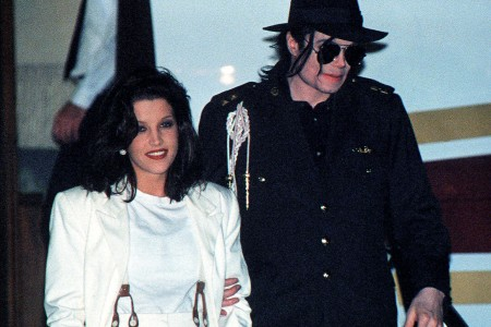 michael jacskon and lisa marie jackson