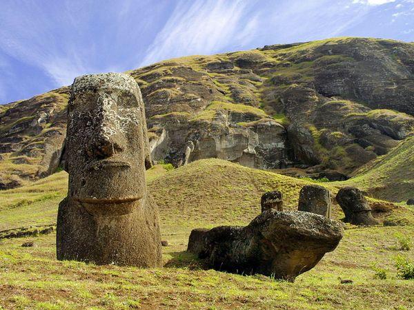 Moai statues Chile